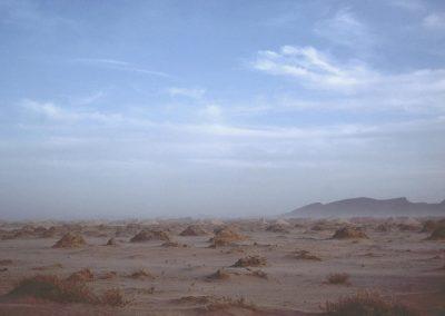 Tempête de sable en pays sahraoui, 1984