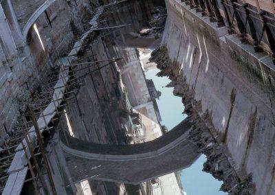 labyrinthe pont miroir des signes Canal vide - Rio di San Giovanni Laterano, Bernard Neau