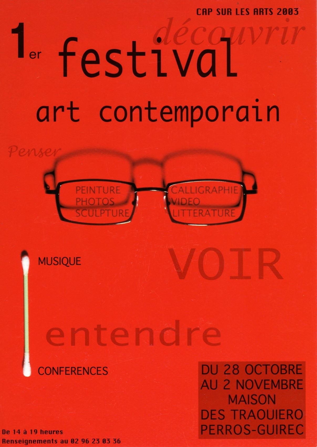 1er festival d'art contemporain, Perros-Guirec, Exposition autour du livre VENISE, 2003