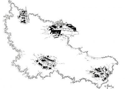 Carte de Belle-Île-en-mer Par Gérald Musch tirée du livre Grand-Village