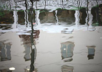 Le tramway dans l'eau