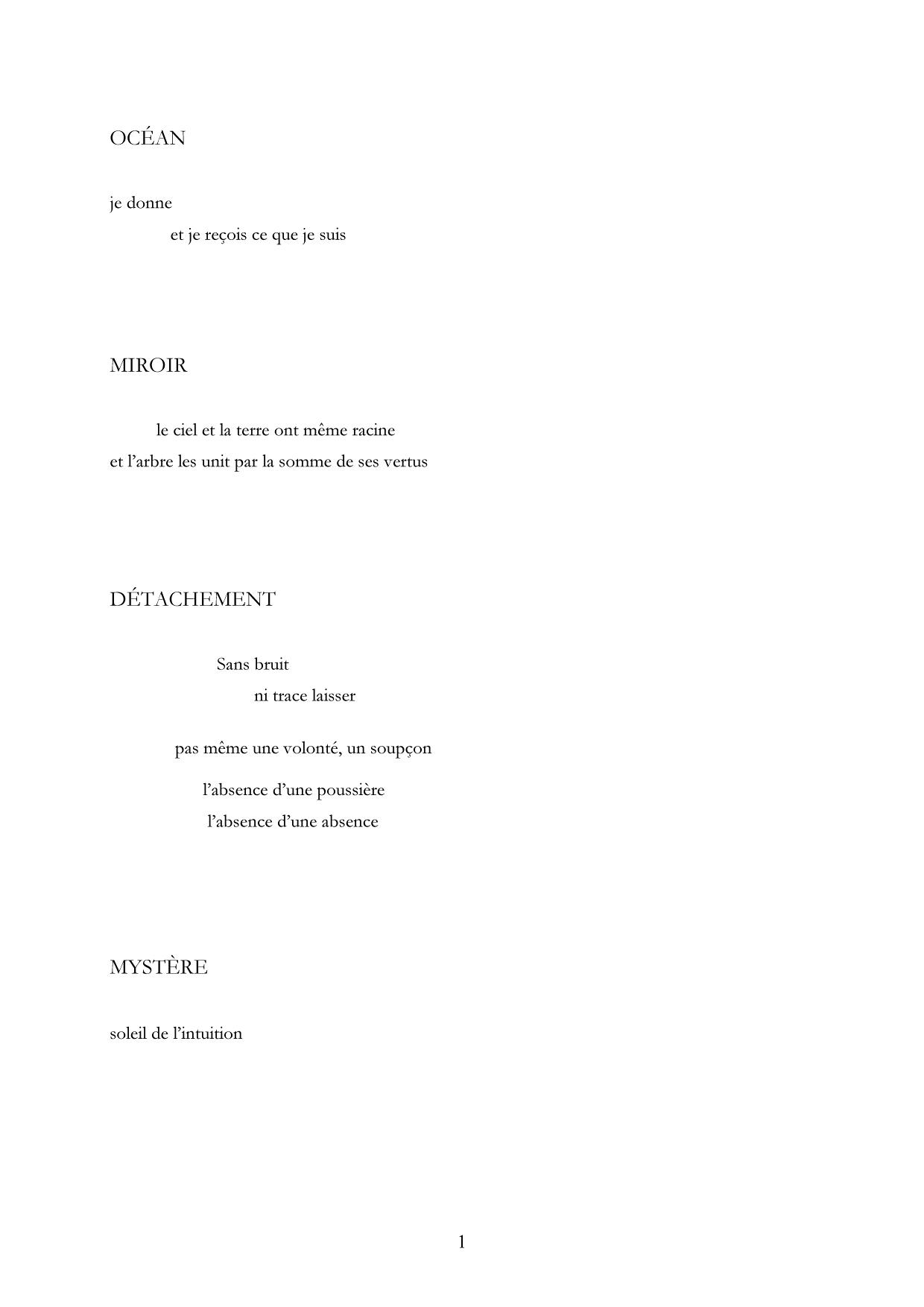 Monologue des sources, Extrait 1 Lachenal & Ritter-Gallimard, 1987