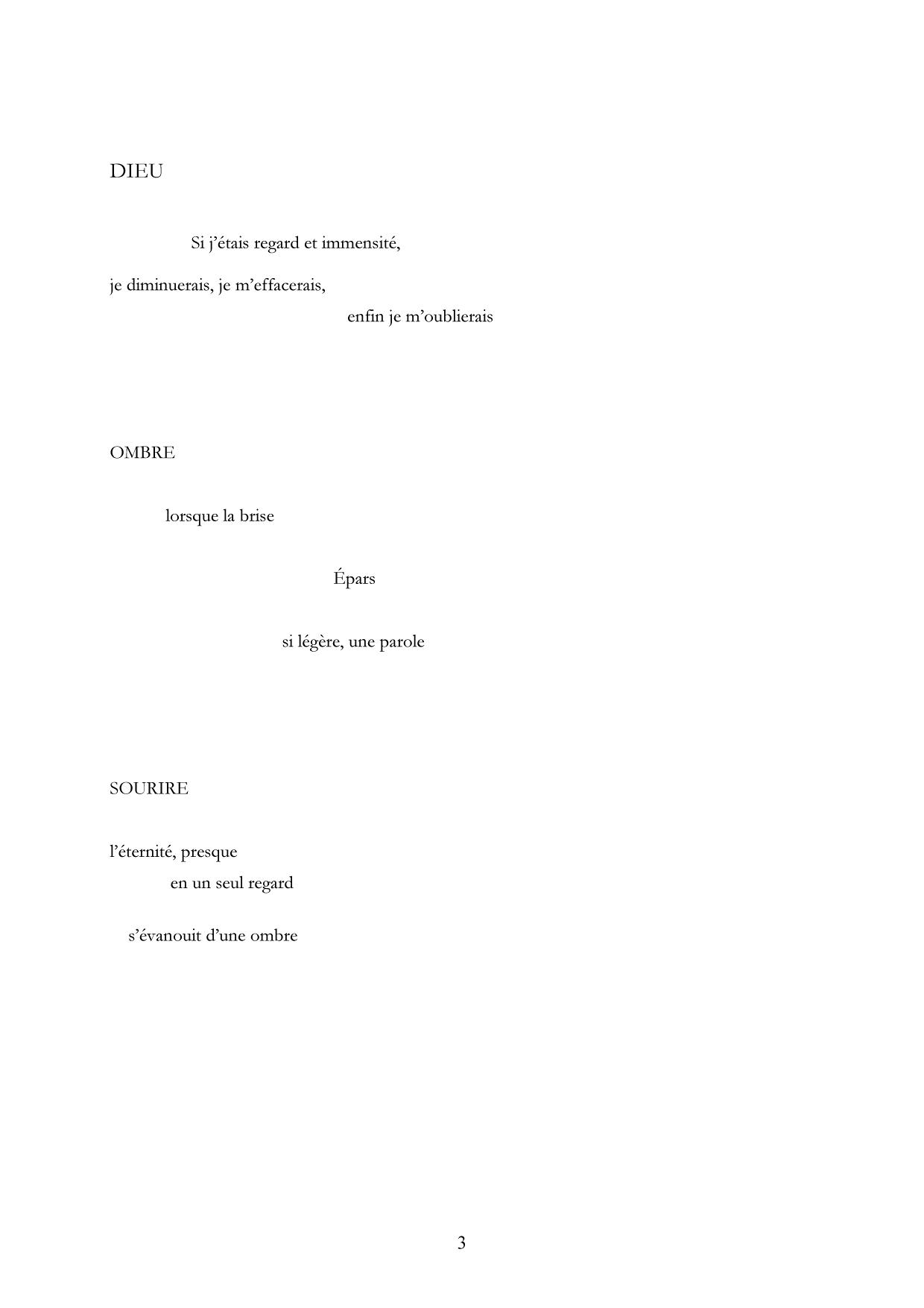 Monologue des sources, Extrait 3 Lachenal & Ritter-Gallimard, 1987