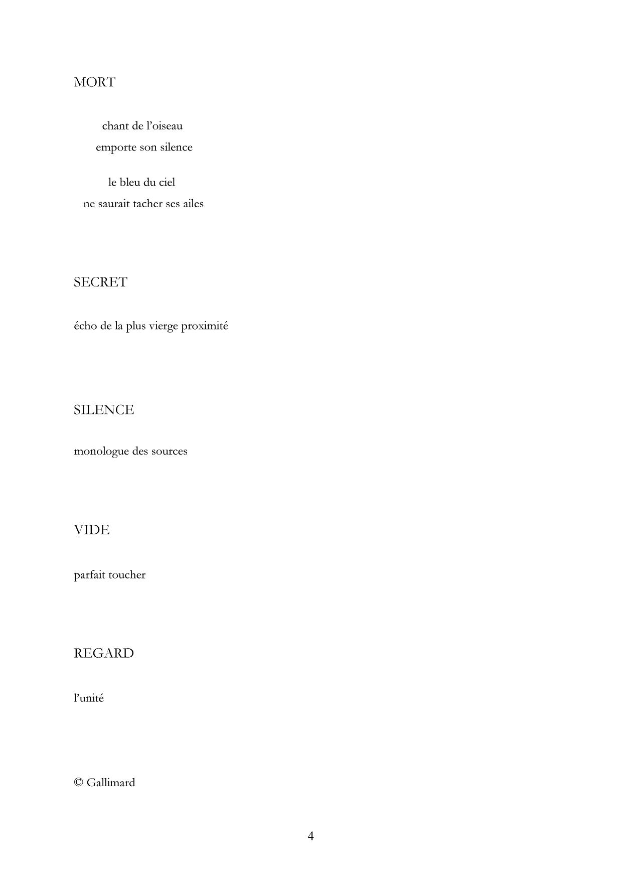 Monologue des sources, Extrait 4 Lachenal & Ritter-Gallimard, 1987