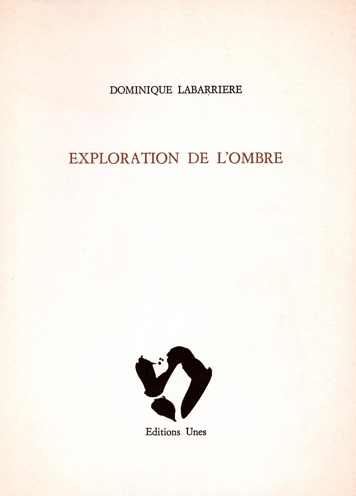 Dominique Labarrière, Exploration de l'ombre, Unes, 1988