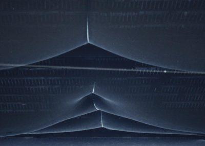 Plafond à la tenture bleue