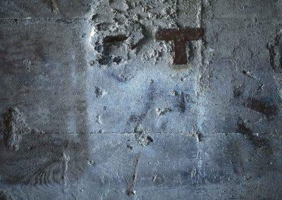Mur bleu à la ferrure
