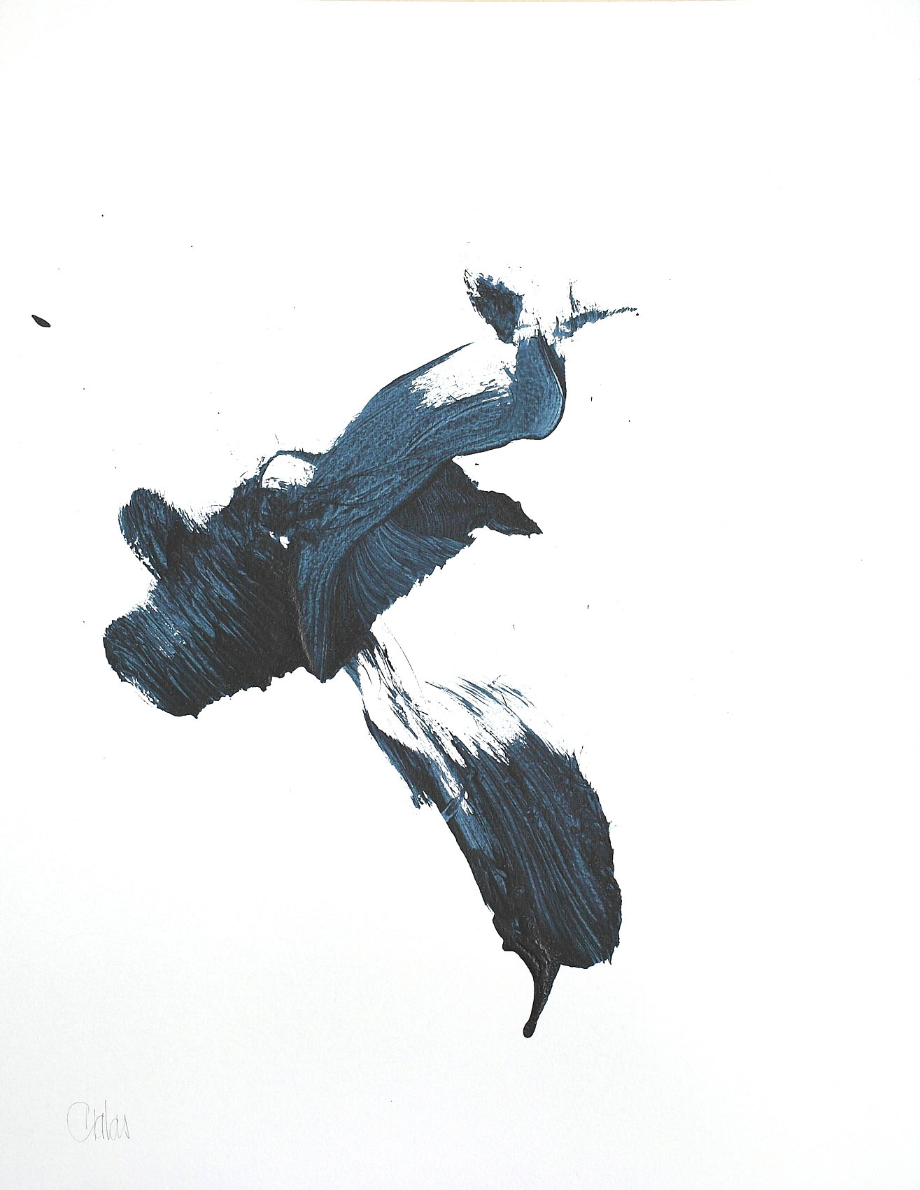 GRATAS - série Geste unique, sans titre, acrylique sur vélin d'Arches, 2009