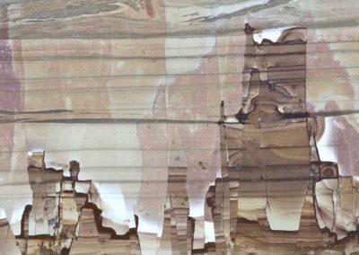 """ Ce que dit la bouche d'ombre "", Jersey's Spirit - Paésine d'Italie, Ruin marble from Italy  - Bernard Neau"