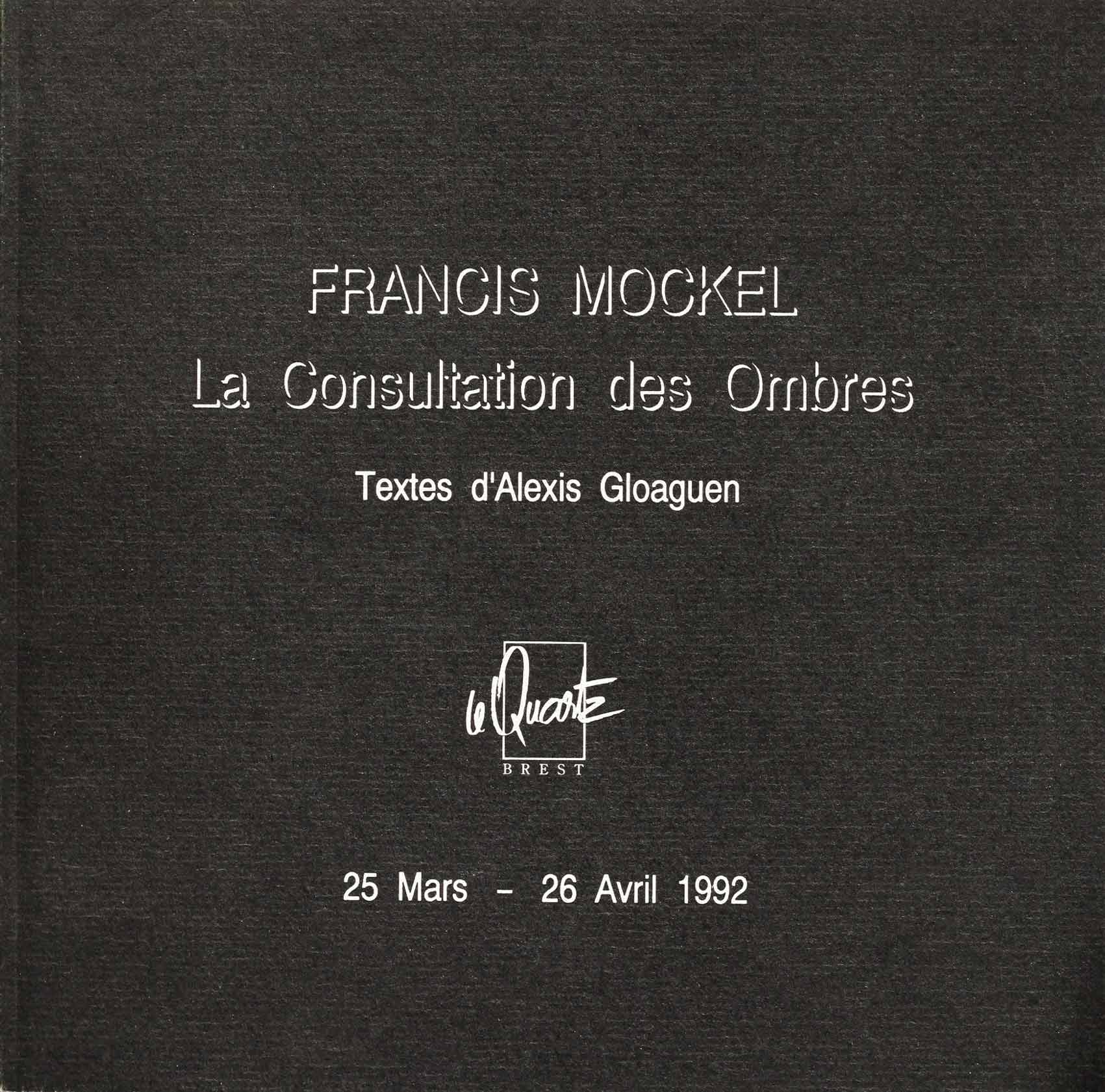 Francis Mockel, Catalogue 1992